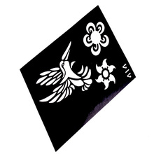 Design Reusable Airbrush Tattoo Stencil For Painting Template Airbrush Glitter Tattoo Stencils Pochoir Tatouage T001-414 EE