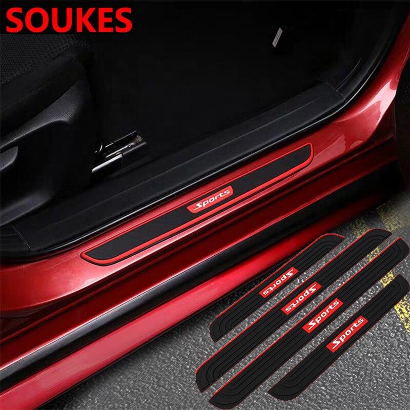 4x4 Sport Car Door Threshold Guard Sill Plate Sticker For Cadillac CTS SRX ATS Lexus RX NX GS CT200H GS300 RX350 RX300 Saab 9-3