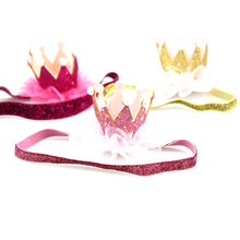 Happy Birthday Party Hats Decor Cap One Hat Princess Crown 1st 2nd 3rd Year Old Number Baby Kids Hair Accessory