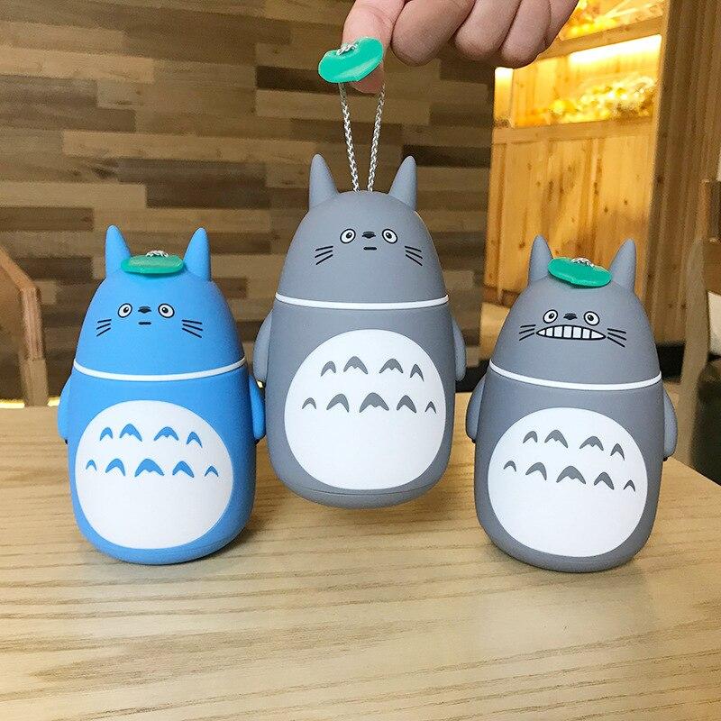 2018 New Anime My neighbor Totoro Insulated Cup Cute Totoro Stereoscopic Glass Mug Students Bottle Kids Gift