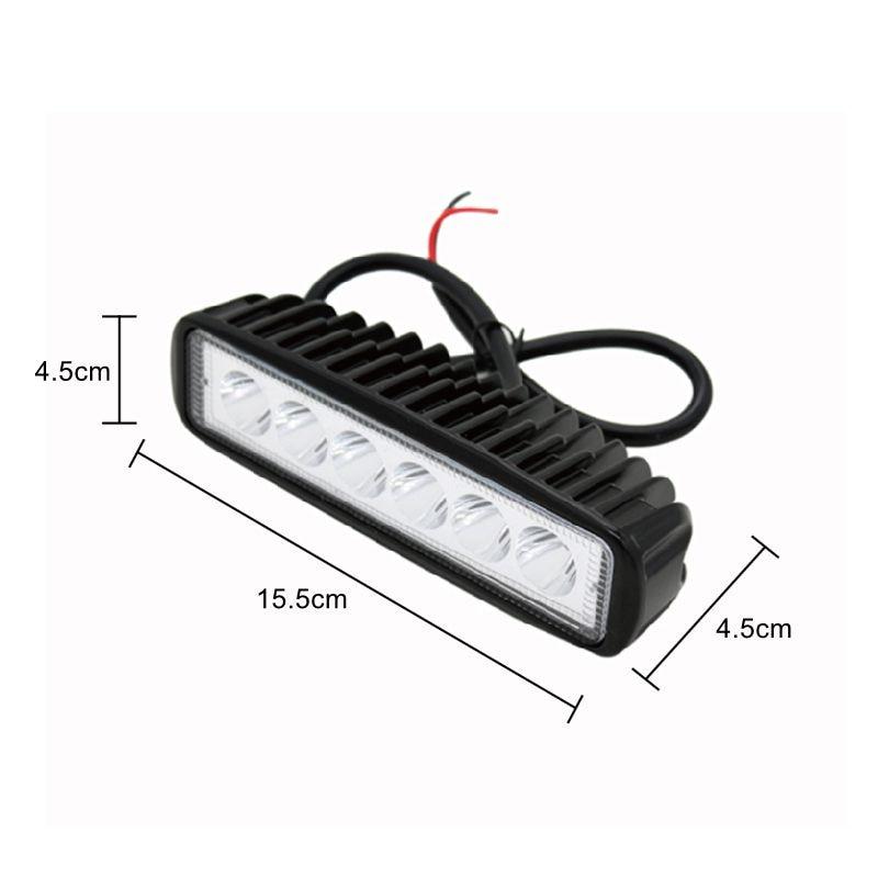 2Pcs / Lot SUNKIA 18W Daşqın LED işığının işıqforu 4x4 yol - Avtomobil işıqları - Fotoqrafiya 3
