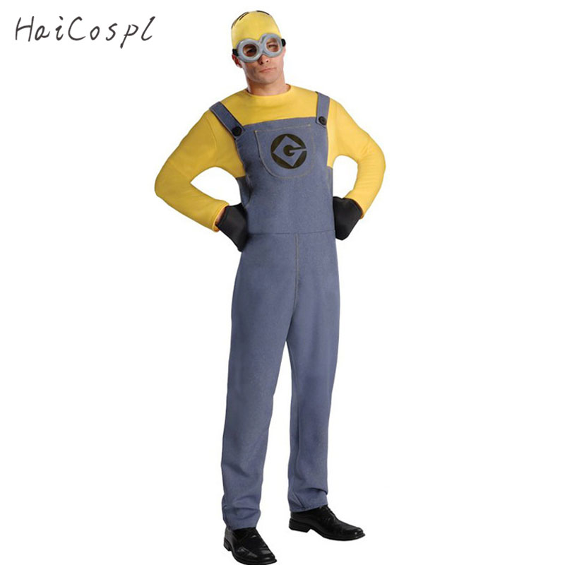Halloween Costume For Men Adult  Rompers Anime Cosplay Fancy Couple Party Wear Funny Jumpsuit With Hat Glasses