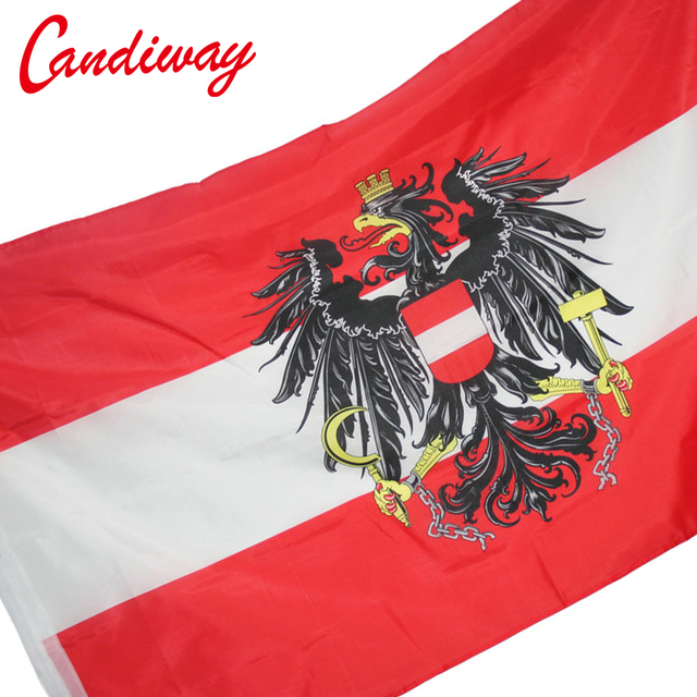 candiway percent polyester printed austria eagle flags decoration