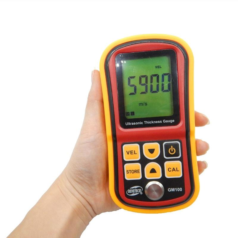 GM100 Digital LCD Ultrasonic Thickness Meter Tester Gauge Metal TestingWidth Measuring Instruments(send from Russian with box)  цены