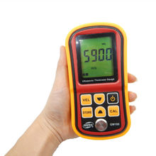 GM100 Digital LCD Ultrasonic Thickness Meter Tester Gauge Metal TestingWidth Measuring Instruments(send from Russian with box)