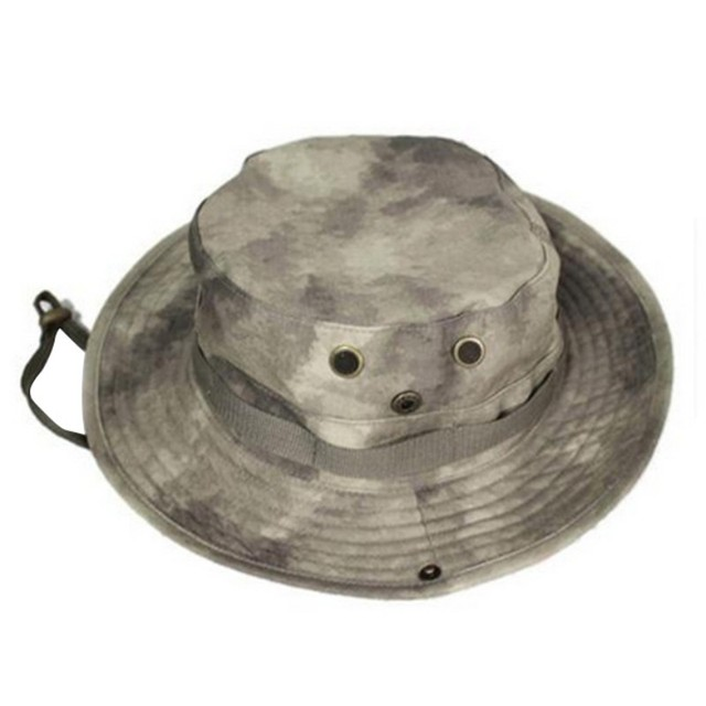 1dce6f09c9a Tactical Camouflage Hats Military Cap Summer Camping Hiking Man s Round  Hunting Tactical Hat
