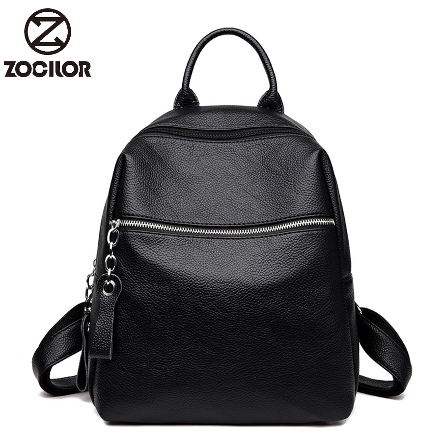 Fashion Women Backpacks Women Soft Leather Backpacks Female School Backpack Women Shoulder Bags For Girl Travel Back