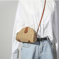 Summer New Wemen Mini Messenger Bag Korean Style Ulzzang Shoulder Bag Straw Weaving Fashion Harajuku Primary Color Crossbody Bag