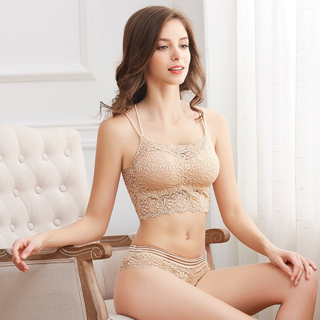 Transparent Lace Bra and Panty Set Women Sexy Lingerie Bra Set Intimates Ladies Underwear Set 4
