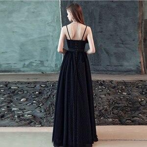 Image 2 - FADISTEE חדש הגעה מודרני מפלגה שמלת ערב שמלות נשף טול Vestido דה Festa שחור סטרפלס דפוס טול ארוך סגנון