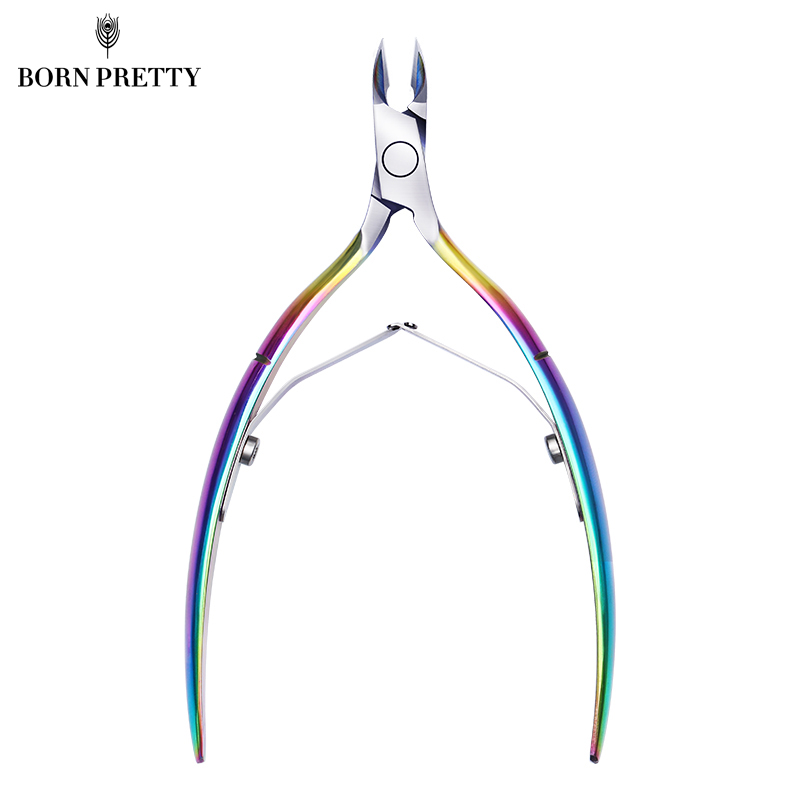 BORN PRETTY Colorful Sharp Nail Cuticle Nipper Dead Skin Remover Clipper Stainless Steel Scissor Manicure Nail Art Tool