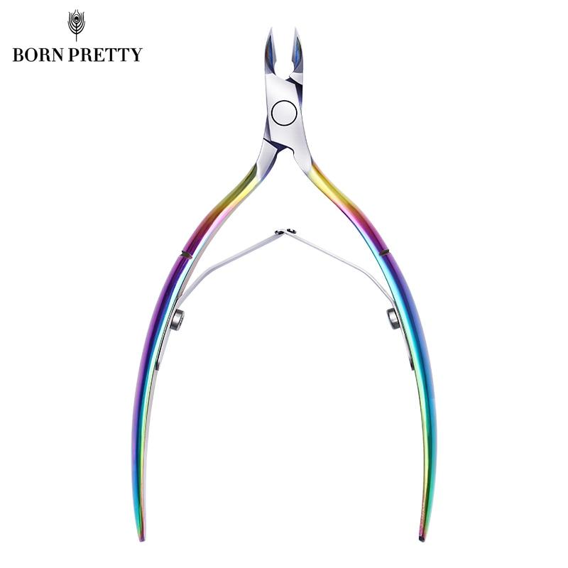 BORN PRETTY Colorful Sharp Nail Cuticle Nipper Dead Skin Remover Clipper Stainless Steel Scissor Manicure Nail Art Tool