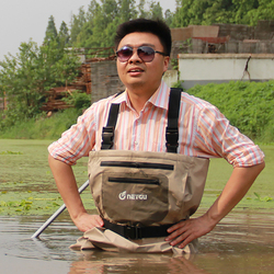 Breathable high quality fishing wading pants rafting wear chest waders with neoprene socks.jpg 250x250