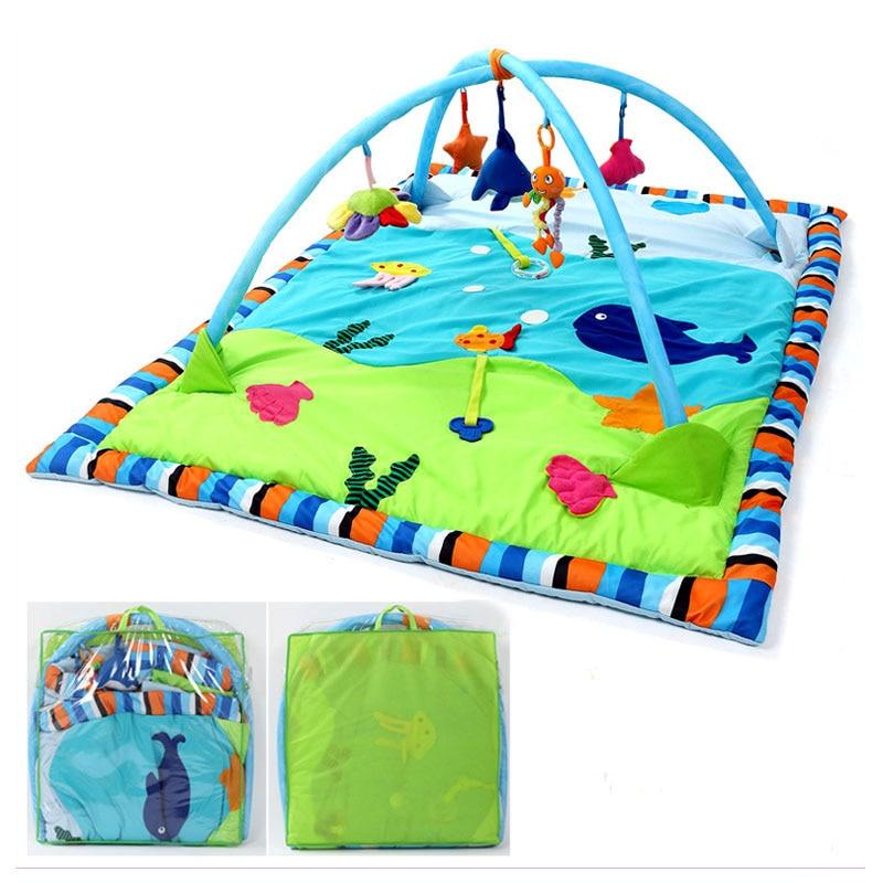 Grand bébé tapis de jeu forêt tropicale océan bébé Gym activité tapis de jeu couverture de jeu nouveau-né ramper jeu Pad soutien Fitness jouets Rack