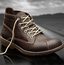British retro men's outdoor waterproof boots first layer of leather SUB2139