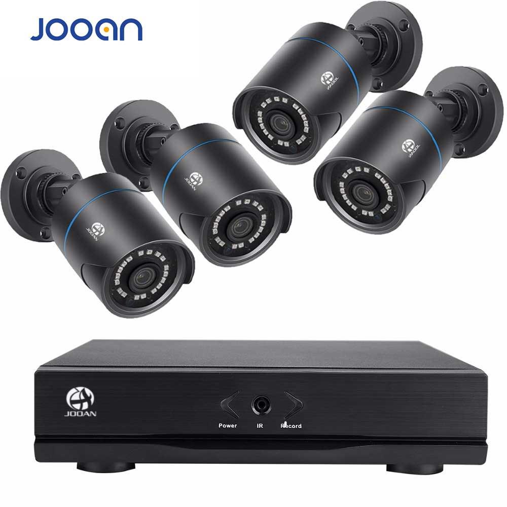 Jooan 704NVR 4CH NVR комплект 720 P POE Камера Системы HD Безопасности IP Камера Системы CCTV Мониторы Системы выполните наблюдения сети