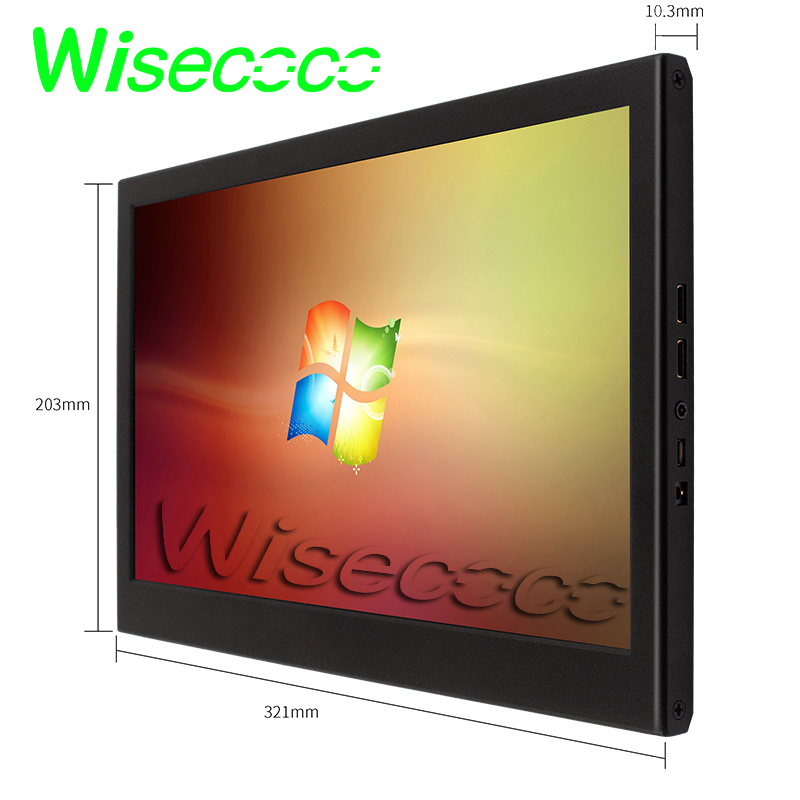 Portable Monitor 15.6inch 1920x1080 HD  Screen LCD Computer LED Monitor  For PS4/Xbox/Phone