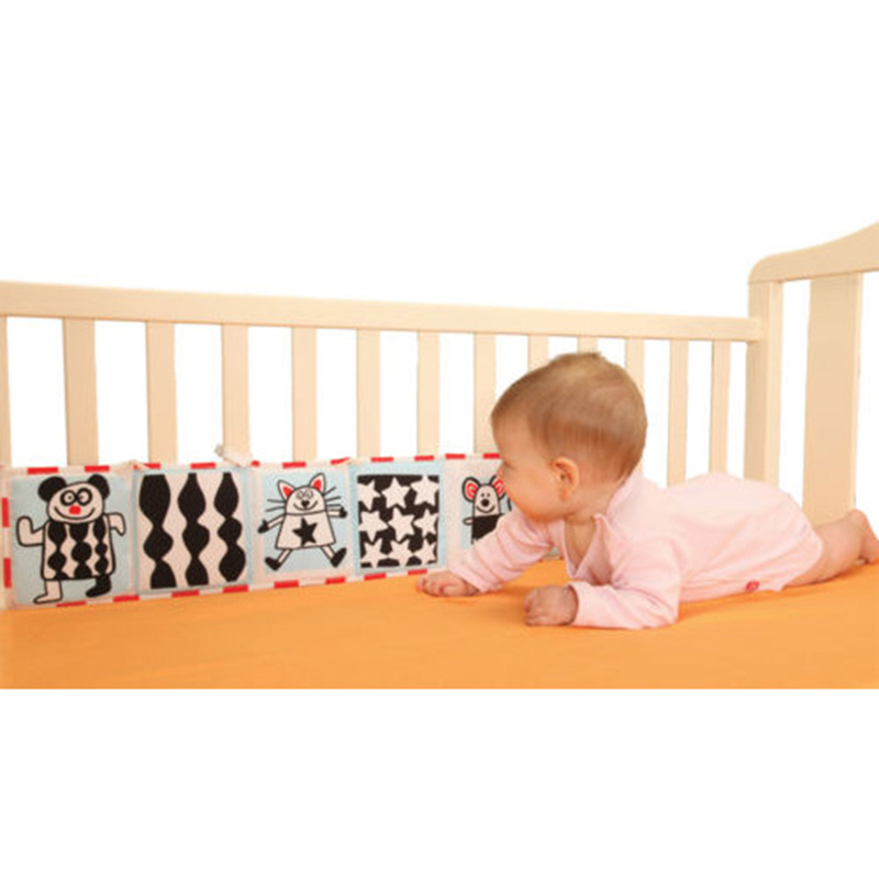 1-12 Months Baby Toys Cloth Book  Multi Animal Bumper Pad Toys Knowledge Around Multifunction Fun And Colorful Bed Baby Bedding