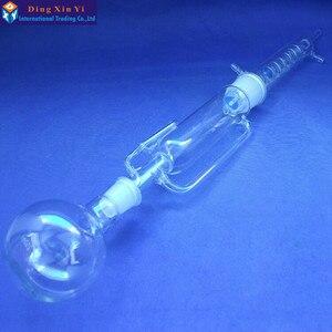 Image 2 - 250 ml aparat soxhleta, urządzenie ekstrakcyjne Soxhlet ze spiralnym skraplacz, skraplacz i korpus ekstraktora, szkło laboratoryjne