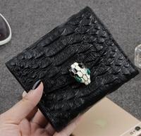 New 2017 Brand Women Wallets Fashion Short Alligator Purse Genuine Leather Wallet For Female Carteira Masculina