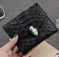 New 2017 Brand Women Wallets Fashion Short Alligator Purse Genuine Leather Wallet For Female Carteira Masculina