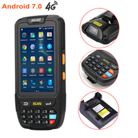 7 android 4 DHL Free Shipping 4 inch Touch Screen IP65 Waterproof Industrial PDA Handheld Terminal 1D 2D Laser Barcode Scanner Android 7.0 (5)