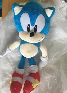 Image 3 - Anime Bebek peluş oyuncaklar Sonic the Hedgehog 40cm Mavi Sonic peluş oyuncaklar Sevimli Doldurulmuş Çocuk Hediyeler Bebek Erkek Büyük Yumuşak Oyuncaklar çocuklar için