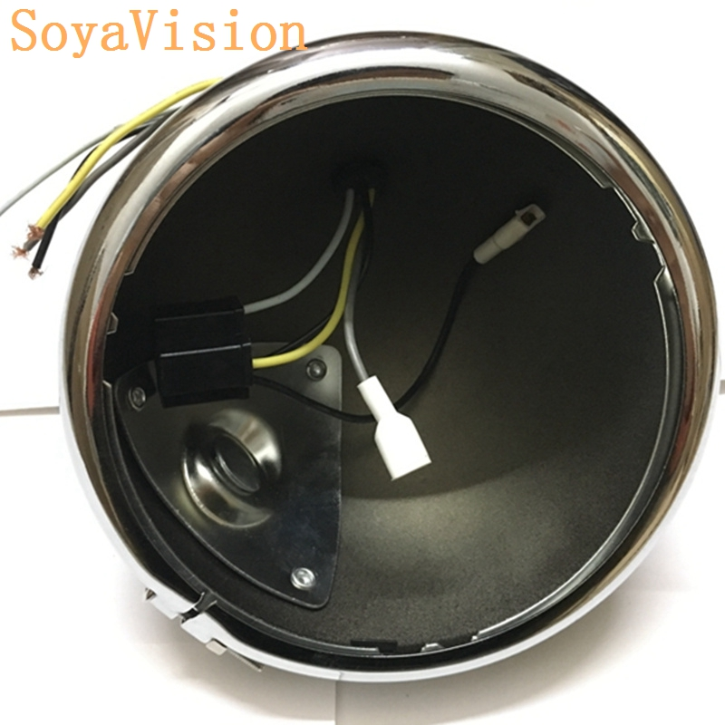 For Harley Accessories 5 3  4 U0026quot  Motorcycle Headlight Black Housing Bucket  U0026 Wire Harness For