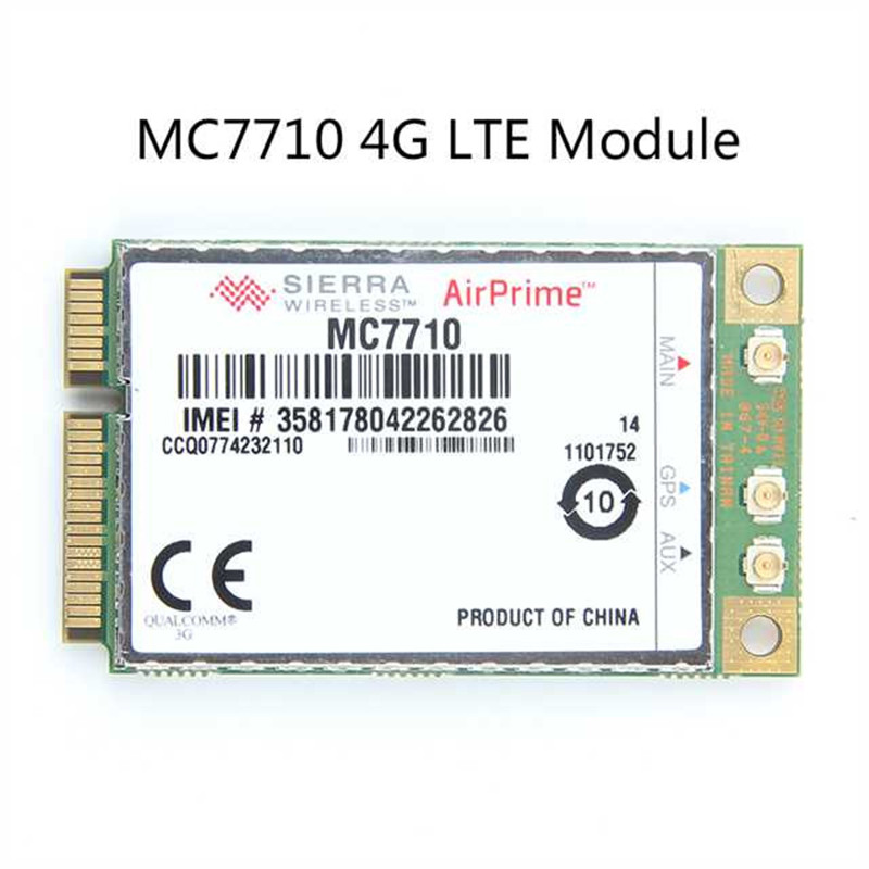 Unlocked Sierra Wireless MC7710 4G LTE/HSPA+ 4G 3G Module WWAN Mini PCI-E Card WCDMA EDGE / GPRS /LTE 800/900/2100MHz 4g module 4g network card lte module card full cnc js9331 development board supporting
