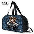 Man&Woman Portable Travel Commercial Bag Cat Dog Printed Cross Body Bag With Independent Shoes Space Messenger Bags FORUDESIGNS