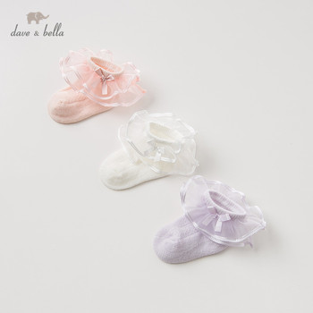 DB12108 dave bella spring autumn baby girls Lolita sock children bows lovely socks image