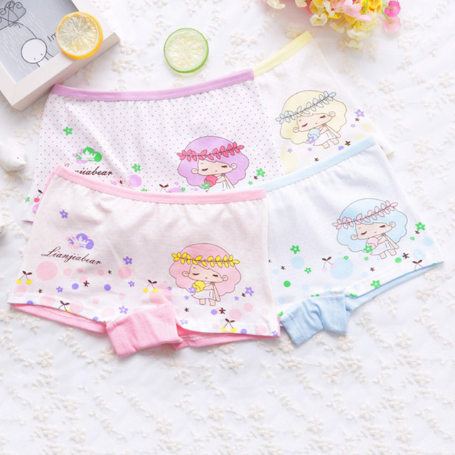 5bba0bd561514 Cartoon Underwear For Girl Random Color Panties Fashion Pattern Underpants  Girls Underclothes Children Briefs 176
