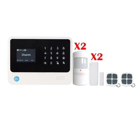 Russian/English/French/Spanish  WiFi Alarm System Home GSM GPRS Alarm Systems Security Alarm System Security IOS /android APP