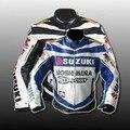 Envío libre Suzuki Pu jacket. Motocross, compitiendo con, motocicleta, moto, bicicleta, chaqueta del motor/ropa Azul/negro