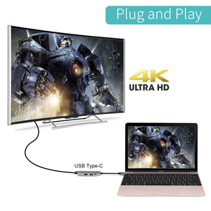Image 3 - USB tipi C HUB USB C HDMI 4K USB 3.0 2.0 Thunderbolt 3 Dex modu adaptörü MacBook için Dock pro Samsung S10 S9 huawei P20 Pro