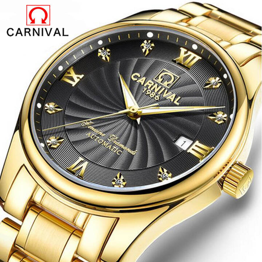 Top Brand Automatic mechanical Men's Watches Date Analog Display business clock Luxury Gold watch waterproof relogio masculino 2017 new sale mechanical man watch relogio masculino gold white watchband automatic date week movt waterproof mans wristwatches