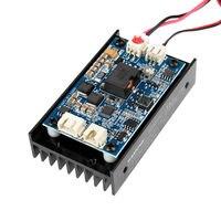15W Laser Head Engraving Module w/ TTL 450nm Blu ray Wood Marking Cutting Tool EU US Plug