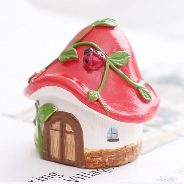 New Fairy Garden Micro Landscape Mini Resin House Miniature House Fairy Home Garden Decoration Crafts Artesanato Miniature