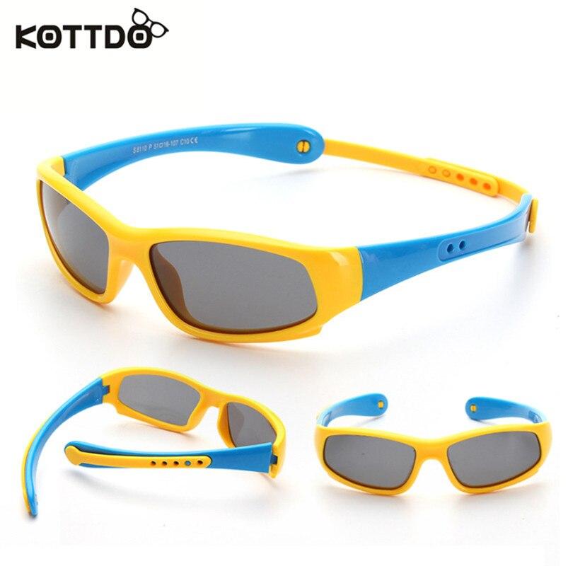 Kottdo Viajan UV400 Polarizado gafas de Sol Niños Niño Niñas y Niños Retro Depor
