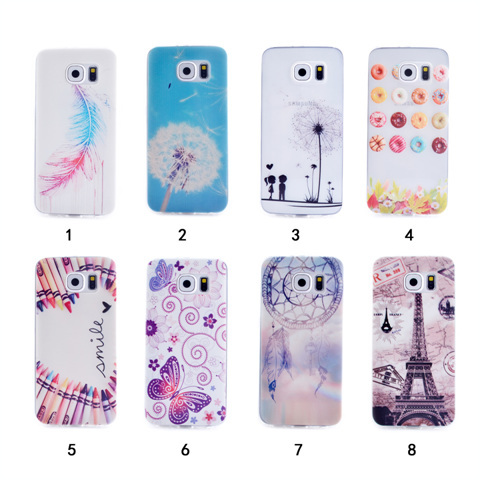S6 Edge Cases Young Lovers Paris Tower Flower Painting Case Samsung Galaxy G9250 Soft TPU Silicone Phone Cover - accloft .COM's store