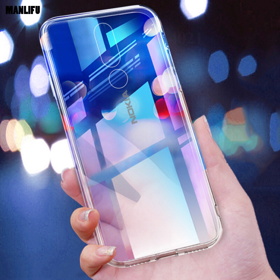 Silicon Soft TPU Case For Nokia 6.1 Plus Transparent Phone Case for Nokia 6 2018 3 5 6 8 7 Plus Full-body Protective Cover 6.1