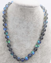 labradorite quartz black round necklace 8/10/12mm  18inch FPPJ wholesale beads nature blue rabinbow freshwater pearl white near round and red jade leopard clasp necklace 18inch fppj wholesale beads nature