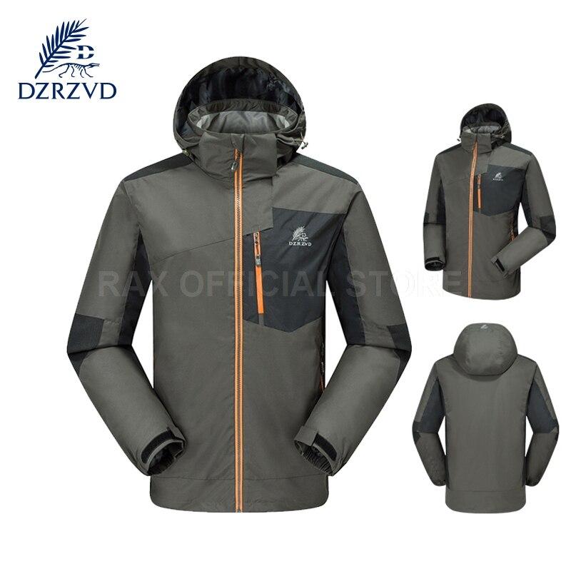 DZRZVD Outdoor Waterproof Windbreaker Men Sports Jacket For Men Outdoor Jacket Windproof Breathable Sport Camping Jackets Coat