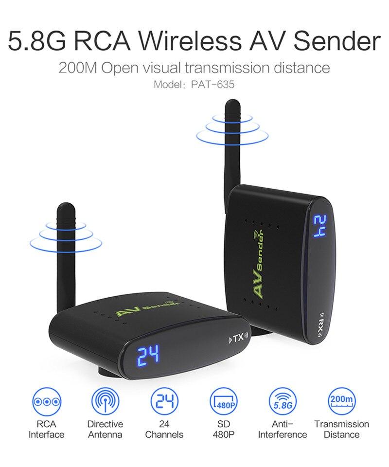 REDAMIGO offre spéciale nouveau 5.8 GHz sans fil AV Audio vidéo émetteur récepteur 200 M AV émetteur récepteur Audio RTE630-1