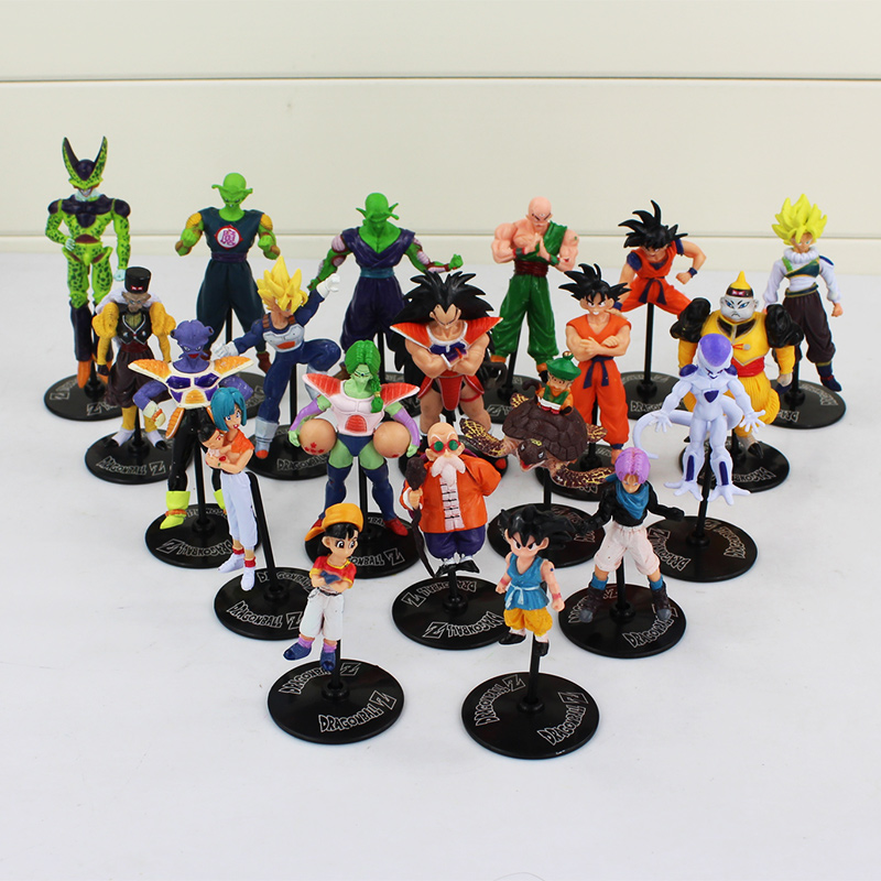 20Pcs Lot New Hot Anime Dragon Ball Action Figure Son Goku Piccolo Kame Sennin Bulma Kuririn