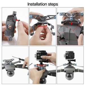 Image 4 - For Gopro Action Camera Stabilizer Holder for DJI Mavic 2 Pro / Zoom Drone Mount Bracket Adaptor Accessories