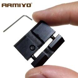 Armiyo-Adaptador de aluminio para caza, accesorio de montaje de carril Picatinny de 11mm a 20mm