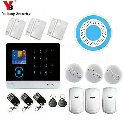 Wireless SIM GSM Home RFID Burglar Security LCD Touch Keyboard WIFI GSM Alarm System Wireless Smoke Detector Alarm System free shipping wireless sim gsm home burglar security lcd keyboard gsm alarm system sensor kit deutsch espanol italiano francais