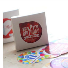 38pcs/set Paper Sticker Birthday Gift Seal Notebook Diary Scrapbooking DIY Round Square Baking Cake Box Decoration Stationery(China)