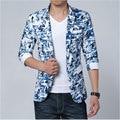 Big Men s Summer Half Sleeve Blazer Floral Print Men's Short Sleeve Suit Jacket Plus Size M-4XL 5XL 6XL